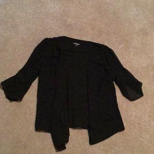 Express black sheer cover up